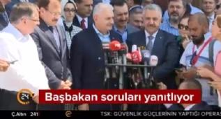 Başbakan Binali Yıldırım'ın gülümseten diyaloğu kamerada!
