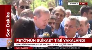 Erdoğan'dan FETÖ'nün suikast timinin yakalanmasına ilişkin değerlendirme: Bizi sürekli tehdit ediyorlar, korkumuz söz konusu değil