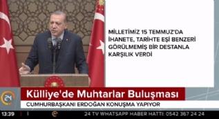 Cumhurbaşkanı Erdoğan'dan Mehmet Akif şiiri!