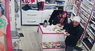 Hırsızlık yaptığı dükkanda oturup çay içti