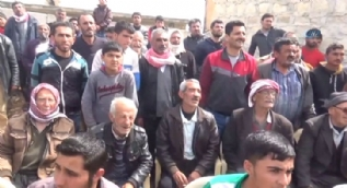Afrin köylerinde ÖSO´ya sıcak karşılama