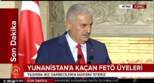 Başbakan Yıldırım: Darbeciler, Yunanistan ve Türkiye arasındaki ilişkilere darbe vurmasın