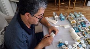 Deve kemiğini sanat eserine dönüştüren 37 yıllık minyatür ustası
