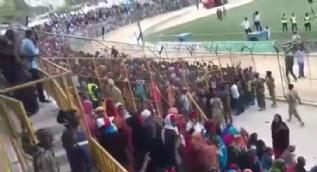 Stadyumu 'Recep Tayyip Erdoğan' sloganıyla inlettiler