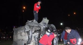 Cumhurbaşkanı koruma ekibini taşıyan minibüs Görele'de kaza yaptı: 4 yaralı