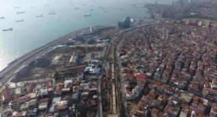 Halkalı-Sirkeci arasındaki tren yolu çalışmalarındaki son durum  havadan görüntülendi