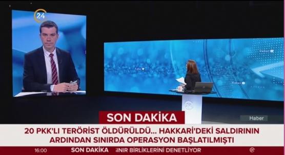 Terör örgütüne darbe: En az 20 terörist etkisiz hale getirildi