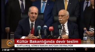 Numan Kurtulmuş, Kültür ve Turizm Bakanı görevini devraldı