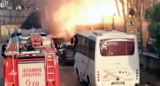 Kadıköy'de korkutan patlama! İşte o anlar