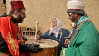 Nevşehir'deki 'Saya gezme' etkinliği renkli görüntülere sahne oldu