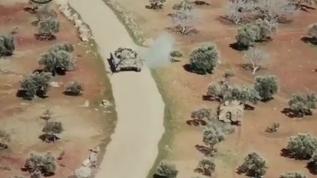 Türk zırhlısı, Esed rejimine ait tankı böyle kovaladı