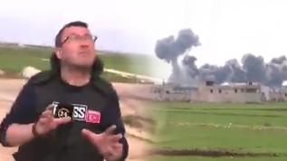 24 ekibi çekim yaptı sırada rejim uçakları bomba yağdırdı