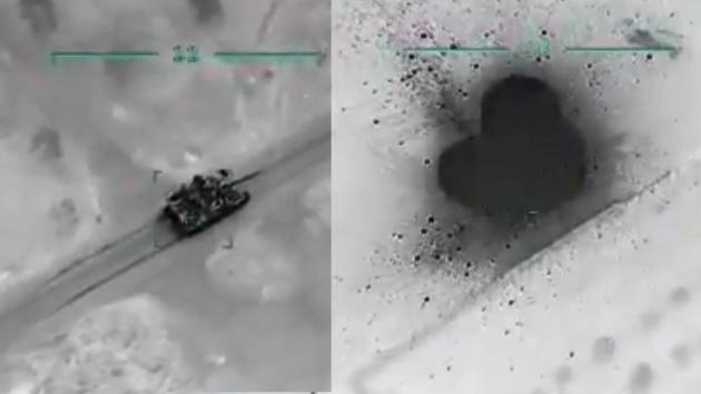 TSK Esed rejimine ait hedefleri vuruyor! İşte ilk görüntüler