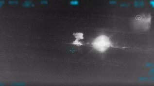 Türk ordusu rejim hedeflerini sabaha kadar ağır şekilde vurdu