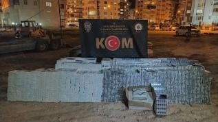 30 bin paket gümrük kaçağı sigara ele geçirildi