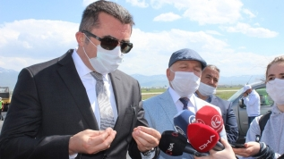 Erzurum Havalimanı pisti bitmeyince Vali çıldırdı