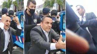CHP'li meclis üyesi kaçak yapının yıkımını durdurmaya çalıştı