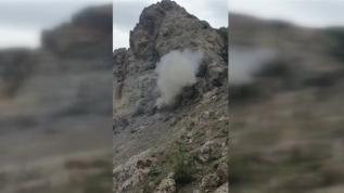 MSB bu görüntülerle duyurdu: PKK'nın bir ini daha imha edildi