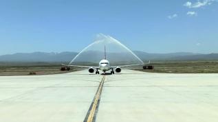 Iğdır'da normalleşme sürecinde ilk uçuş İstanbul'a gerçekleşti