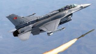 Göklerin Kartalları görevinin başında! F-16 uçakları terör yuvalarını imha etti