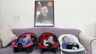 Üçüz bebeklere 'Recep', 'Tayyip' ve 'Erdoğan' adı verildi