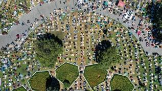 Ayasofya Camii'nde cuma namazı vatandaşların yoğun katılımıyla eda edildi