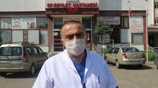 Kovid-19'u yenen başhekim Opr. Dr. Şaban Uysal sağlığına kavuşarak görevinin başına döndü
