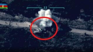Ermenistan ordusuna ait tankın vurulma anı