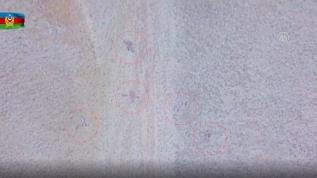Vurulan Ermenistan hedefleri havadan böyle görüntülendi