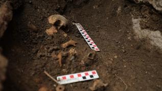 Antik kentte heyecanlandıran keşif! Bebek iskeleti ve su arkı bulundu