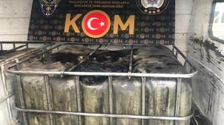 2 bin litre kaçak akaryakıt yakalandı