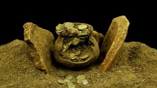 Heyecanlandıran keşif: Roma'nın sikke koleksiyonu bulundu