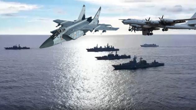 Rus donanması Pasifik Okyanusu'nda tatbikat düzenliyor