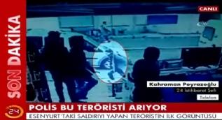 Esenyurt'taki teröristin kaçma anı kameraya yansıdı