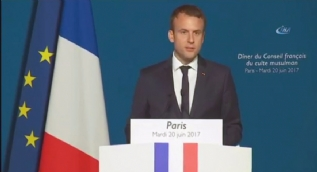 İlk kez Fransız bir Cumhurbaşkanı Fransa İslam Konseyinin iftarına katıldı