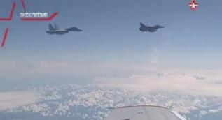 Rus bakanın uçağını taciz eden NATO uçağı böyle uzaklaştırıldı