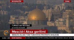 Kudüs'te cuma namazı çıkışı  gerilim arttı! İsrail polisi Filistinlilere müdahale ediyor