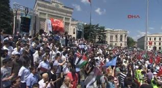 Beyazıt'ta İsrail protestosu