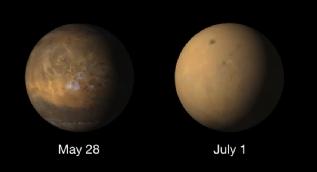 Mars´ı fırtına ele geçirdi: İşte gezegenin öncesi ve sonrası