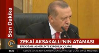 Cumhurbaşkanı Erdoğan'dan Zekai Aksakallı mesajı: Askerlikte kırgınlık olmaz