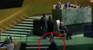 Kuzey Kore temsilcisi Trump'ın konuşmasında salonu terk etti