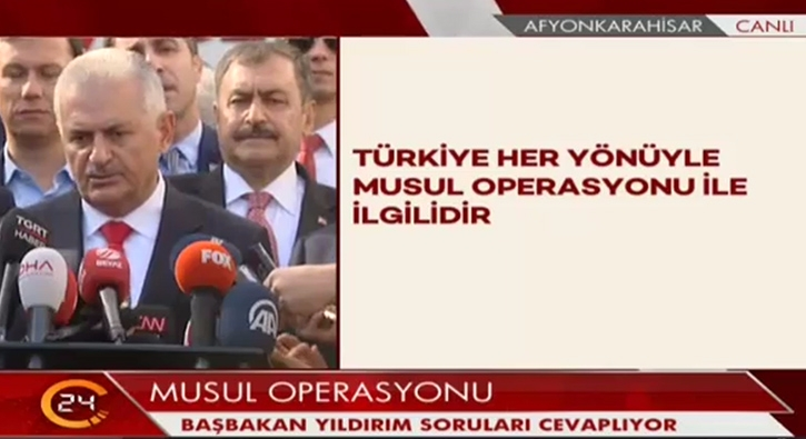 Y�ld�r�m: Irak��n gelece�i T�rkiye'yi yak�ndan ilgilendirir
