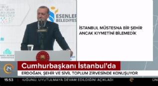 Cumhurbaşkanı Erdoğan'dan İstanbul şiiri