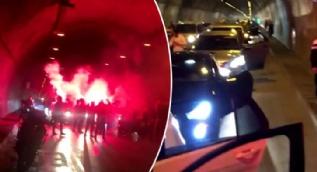Şehir magandaları resmen terör estirdi: Dehşete düşüren görüntüler kamerada
