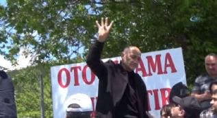CHP yürüyüşüne 'Rabia' işaretli tepki: Şehitler için yürüyün!