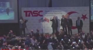 Cumhurbaşkanı Erdoğan'ın konuşmasını provoke girişimi böyle sonuçsuz kaldı