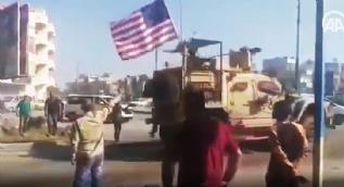 YPG-PKK sempatizanlarının zoruna gitti! ABD güçlerine patates attılar