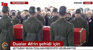 Cumhurbaşkanı Erdoğan, Afrin şehidimizin cenazesinde gözyaşlarını tutamadı