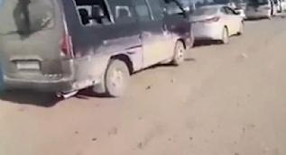 İşte Afrinde Mehmetçiğin yerle bir ettiği terör örgütü PKK konvoyu