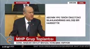 Bahçeli: Türk ile şiddeti aynı cümlede kullanmak ABD dışişleri bakanının haddi değildir